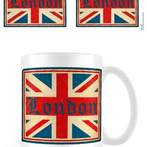 Posters Hrnek Londýn - Vintage Union Jack - Posters