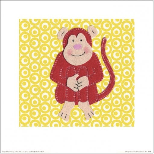 Posters Reprodukce Catherine Colebrook - Cheeky Monkey