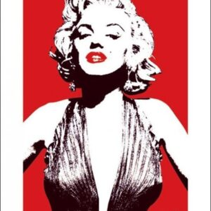 Posters Reprodukce Marilyn Monroe - Red