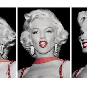 Posters Reprodukce Marilyn Monroe - Red Dress Triptych