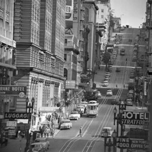 Posters Reprodukce View of Powel street in San Francisco