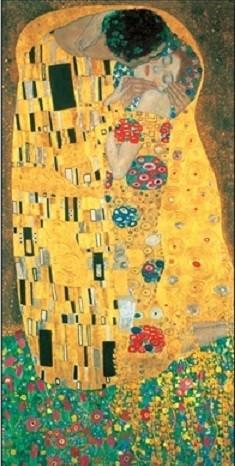 Posters Reprodukce Gustav Klimt - Polibek (část)