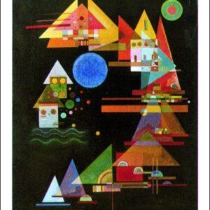 Posters Reprodukce Vasilij Kandinsky - Peaks in the Arc