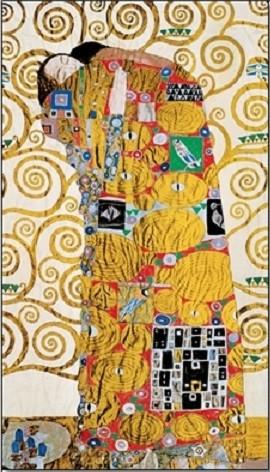 Posters Reprodukce Gustav Klimt - Naplnění (Objetí) - vlys z paláce Stoclet
