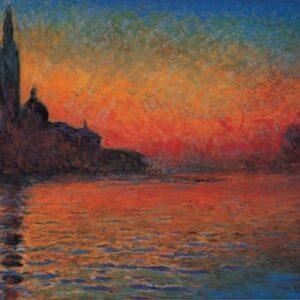 Posters Reprodukce Claude Monet - San Giorgio Maggiore za soumraku - Západ slunce v Benátkách (Stmívání v Benátkách)