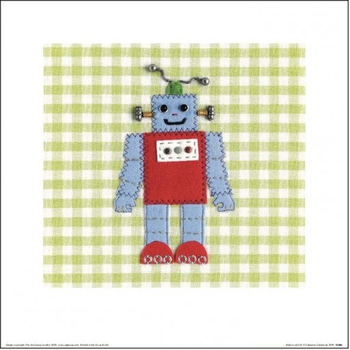 Posters Reprodukce Catherine Colebrook - Robots Rule OK