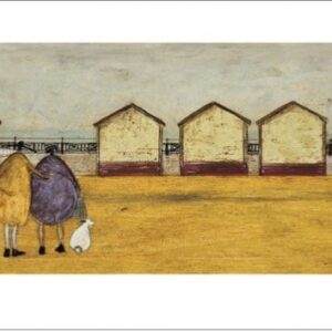 Posters Reprodukce Sam Toft - Looking Through The Gap In The Beach Huts
