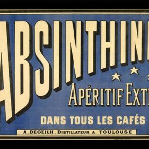 Posters Absint - Absinthe Aperitif rám s plexisklem - Posters