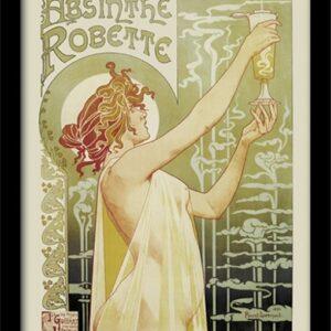 Posters Absint - Absinthe Robette rám s plexisklem - Posters