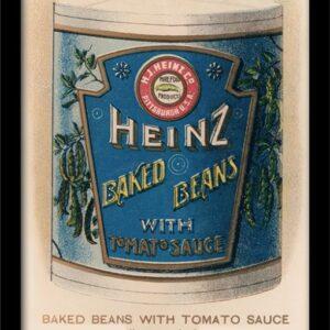 Posters Heinz - Vintage Beans Can rám s plexisklem - Posters