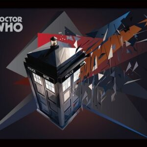 Posters Doctor Who - Tardis Geometric rám s plexisklem - Posters