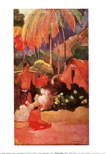 Posters Reprodukce Paul Gauguin - Paysage De Tahiti - Tahitian Mountains