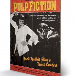 Posters Obraz na dřevě - Pulp Fiction: Historky z podsvětí - Twist Contest