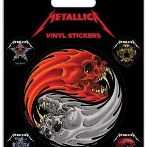Posters Samolepka Metallica - Yin & Yang Skulls Pushead - Posters