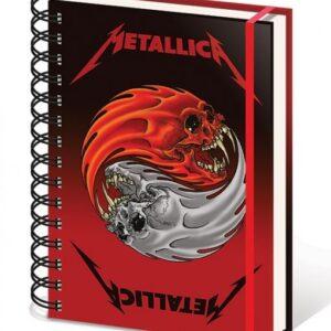 Posters Metallica - Yin & Yang Skulls A5 Wiro Notebook Psací potřeby - Posters