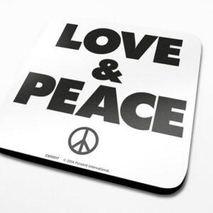 Posters Podtácek Love & Peace - Posters