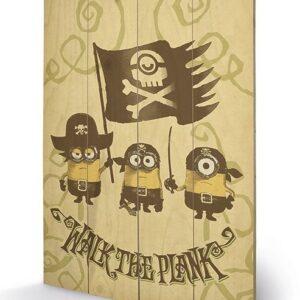 Posters Obraz na dřevě - Mimoni (Já