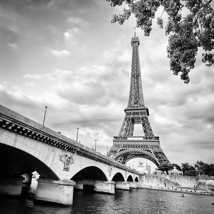 Posters Skleněný Obraz Paříž - Eiffelova věž