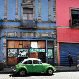 Posters Skleněný Obraz Auta - Zelené auto