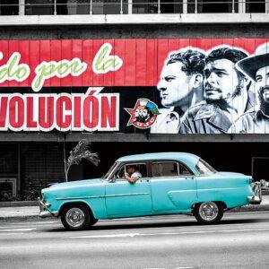 Posters Skleněný Obraz Auta - Modrý Cadillac