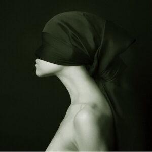 Posters Skleněný Obraz Žena umění - Černobílá silueta
