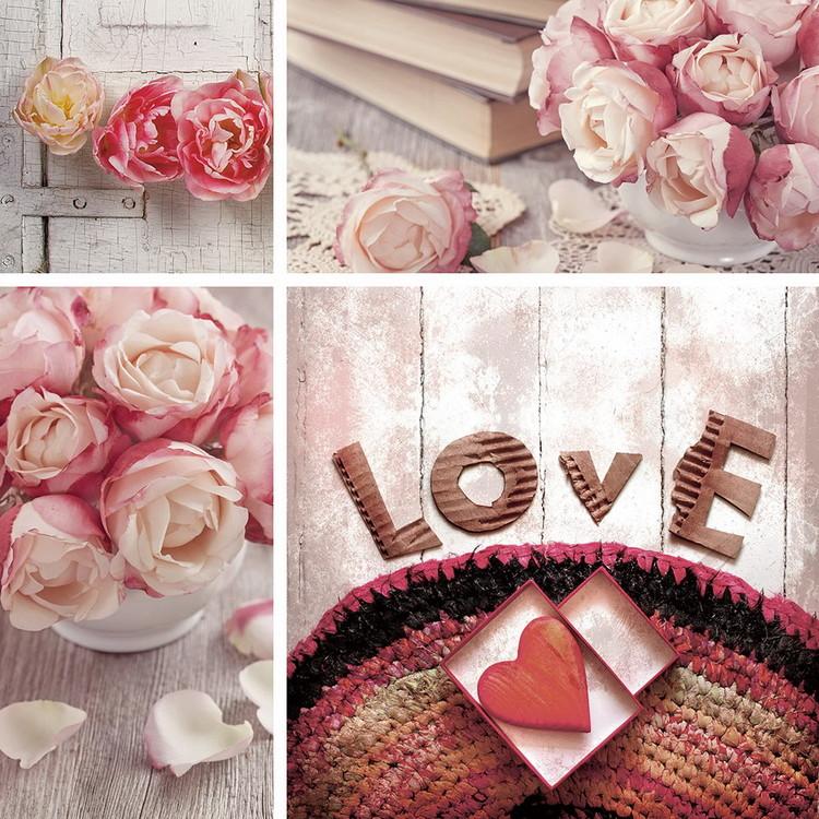 Posters Skleněný Obraz Pink World - Láska