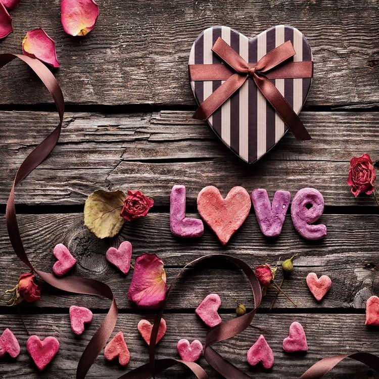 Posters Skleněný Obraz Láska - Be romantic