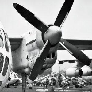 Posters Skleněný Obraz Letadlo - Kokpit