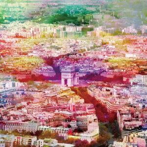 Posters Skleněný Obraz Paříž - Barevná řeka