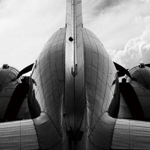Posters Skleněný Obraz Letadlo - Zadní strana
