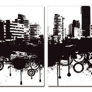 Posters Obraz Moderní design - město v obacích