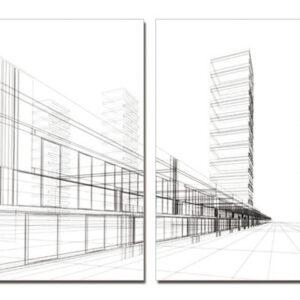 Posters Obraz Architektura - město