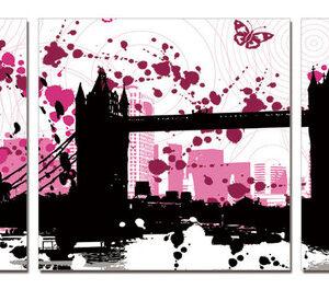 Posters Obraz Moderní design - koláž měst