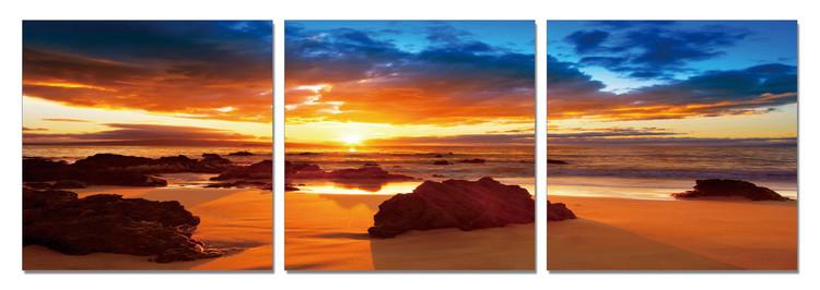 Posters Obraz Podzimní nebe u moře