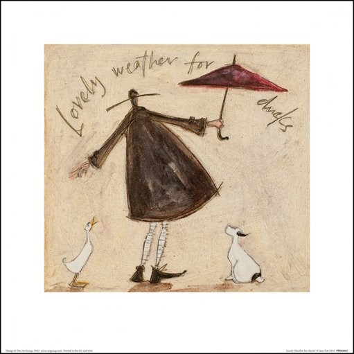 Posters Reprodukce Sam Toft - Lovely Weather For Ducks