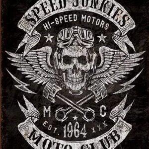 Posters Plechová cedule Speed Junkies