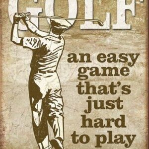 Posters Plechová cedule Golf - Easy Game