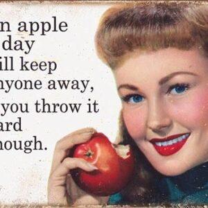 Posters Plechová cedule Ephemera - Apple a Day
