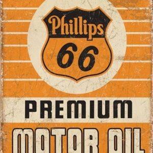 Posters Plechová cedule Phillips 66 - Premium Oil