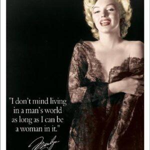 Posters Plechová cedule Marilyn - Man's World