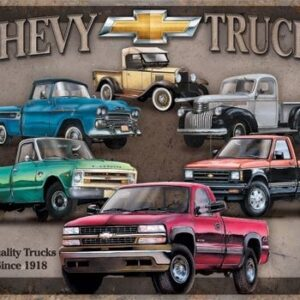 Posters Plechová cedule Chevy Trucks Tribute