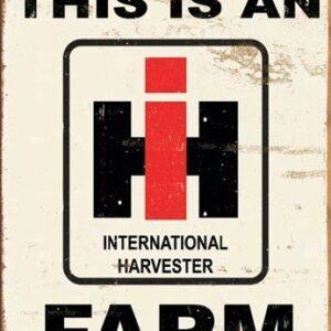 Posters Plechová cedule IH Farm