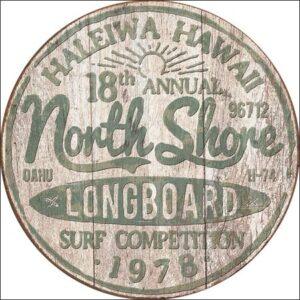 Posters Plechová cedule North Shore Surf