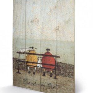 Posters Obraz na dřevě - Sam Toft - Bums on Seat