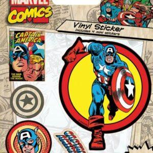 Posters Samolepka Marvel Comics - Captain America Retro - Posters