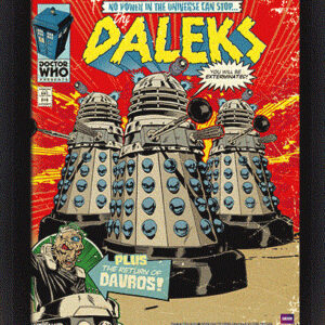 Posters 3D plakát s rámem Doctor Who - Daleks Comic Cover