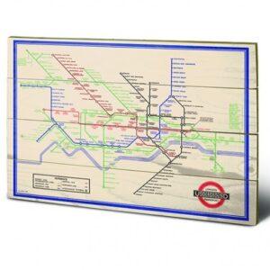 Posters Obraz na dřevě - London Transport