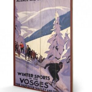 Posters Obraz na dřevě - Winter Sports In The Vosges