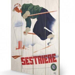 Posters Obraz na dřevě - Italia Sestriere