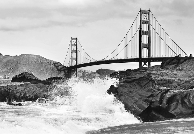 Posters Fototapeta Golden Gate Bridge – Rock